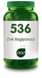 Afbeeldingen van AOV 536 Zink bisglycinaat 15 mg