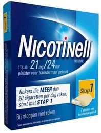 Afbeeldingen van Nicotinell pleisters TTS30 21mg 7st