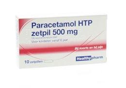 Afbeeldingen van Healthypharm paracetamol 500mg zetpil 10st