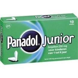 Afbeeldingen van Panadol Junior 250mg zetpil 10st