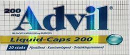 Afbeeldingen van Advil Liquid Caps 200 20caps
