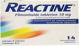 Afbeeldingen van Reactine Cetirizine 10mg 14tb