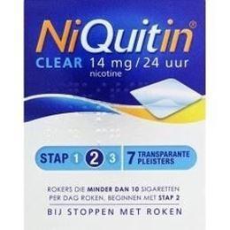 Afbeeldingen van NiQuitin Clear pleisters Stap 2 14mg 7st