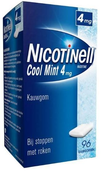 Afbeelding van Nicotinell kauwgom Cool Mint 4mg 96st