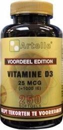 Afbeeldingen van Artelle Vitamine D3 25 mcg