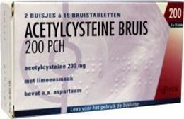 Acetylcysteine Pch 200mg bruistablet 30tb