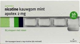 Afbeeldingen van Apotex Nicotine 2mg kauwgom 36st
