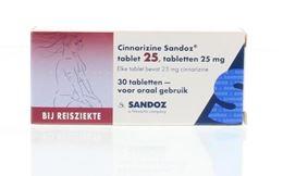 Afbeeldingen van Sandoz Cinnarizine 25mg 30tb
