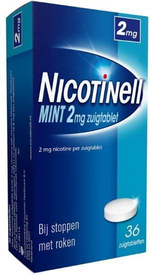 Afbeelding van Nicotinell Mint 2mg zuigtablet 36tb