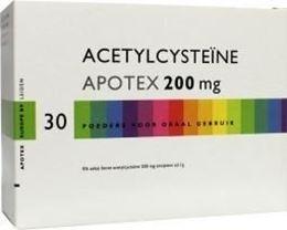 Afbeeldingen van Apotex Acetycysteine 200mg 30st