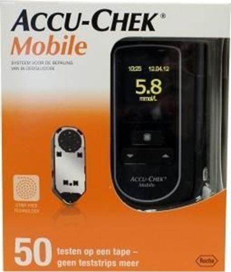 Afbeelding van Accu-Chek Mobile bloedglucosemeter met 50 testen
