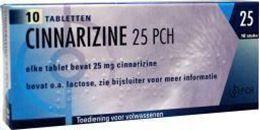 Cinnarizine Pch 25mg 10tb