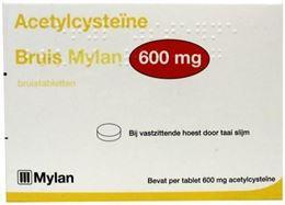 Afbeeldingen van Mylan Acetylcysteine 600mg bruistablet 30tb
