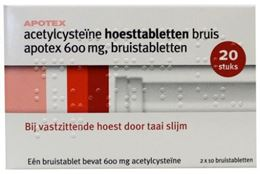 Afbeeldingen van Apotex Acetylcysteine 600mg bruistablet 20tb