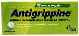 Afbeeldingen van Antigrippine 250mg 40tb
