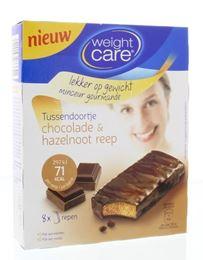 Weight Care Tussendoortje Chocolade en Hazelnootreep 8st