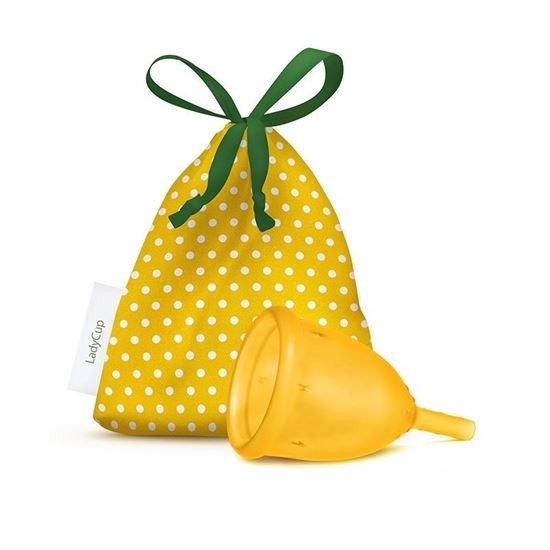 LadyCup Menstruatiecup geel mt L