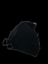 Type II herbruikbaar mondkapje zwart 4st